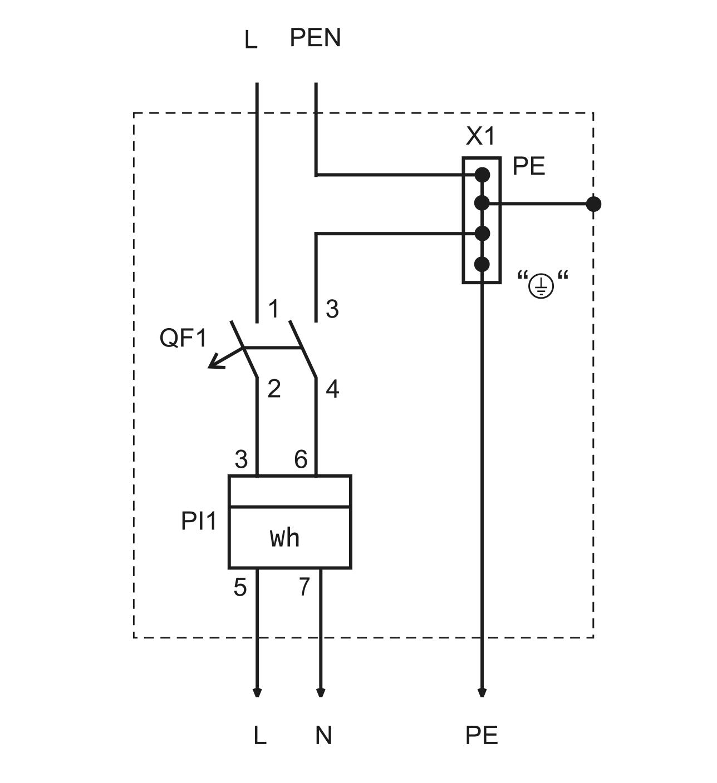схема счетчик электро
